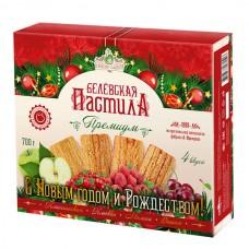 Белёвская пастила яблочная «Премиум 4 вкуса», 700г (в новогодней упаковке)
