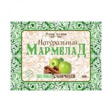 Мармелад натуральный без сахара Яблоко с корицей, 160 г