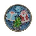 Царский пряник набор «Дед Мороз, Снегурочка и Елочка» (в лукошке с бумажным наполнителем), 250г