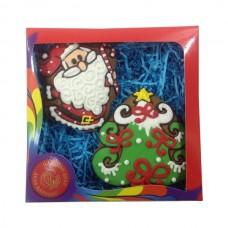 Царский пряник «Новый год-3» (2 пряника в подарочной коробке), 150г