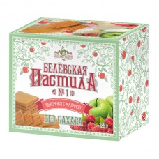 Белёвская пастила яблочная с малиной без сахара, 125г